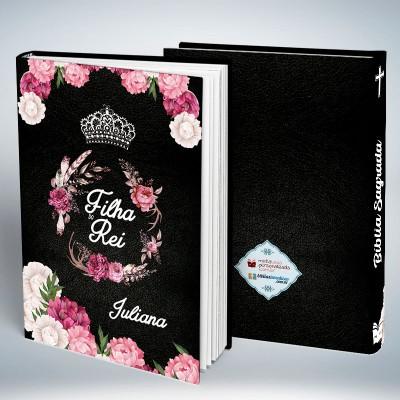 Bíblia Personalizada Capa Black Filha do Rei