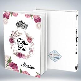 Bíblia Personalizada Capa Blanca Filha do Rei