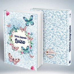 Bíblia Personalizada Borboleta Azul