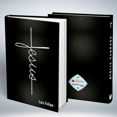 Bíblia Personalizada Lord Jesus Black