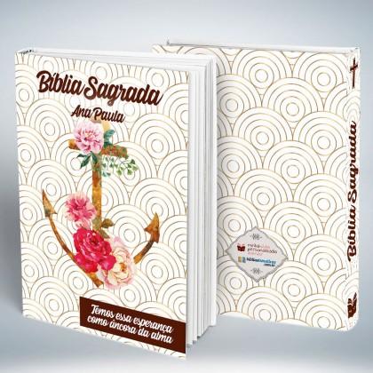 Bíblia Personalizada Ancora Floral