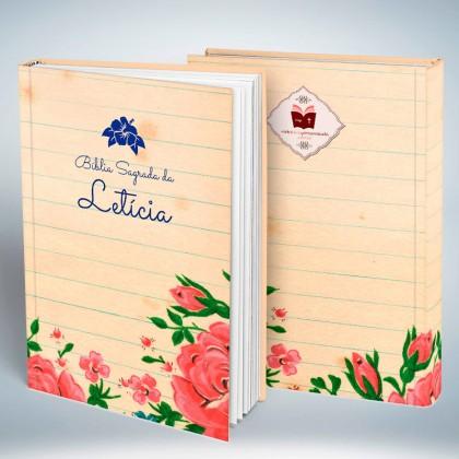 Bíblia Personalizada Caderno de Flores