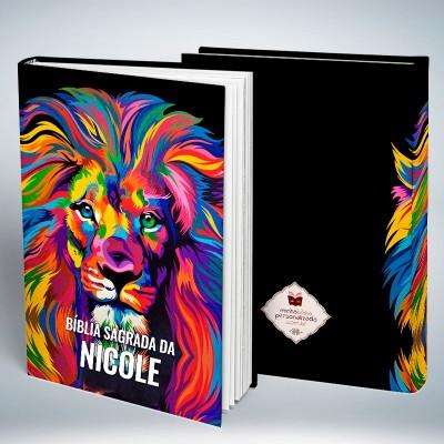 Bíblia Personalizada Leão Colorido