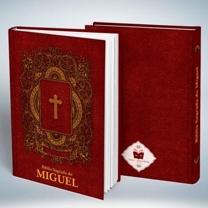 Bíblia Personalizada Couro Red Cruz Tradicional